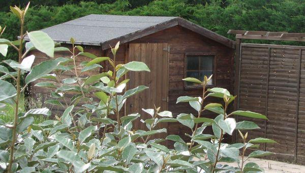 Abri en bois pour mat riel de jardinage for Materiel jardinage