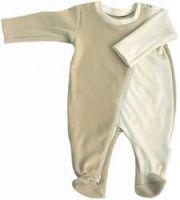 Vêtements de naissance. Pyjama bébé en velours bio a1a9071ef05